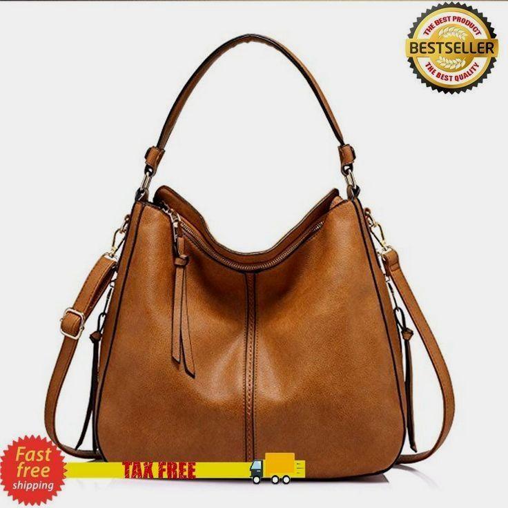 c1eede96b074 LARGE HOBO HANDBAGS DESIGNER LEATHER PURSE SHOULDER VINTAGE BUCKET BAG  BROWN NEW  hobohandbagsdesigner hobo purses and bags  BohoHandbags