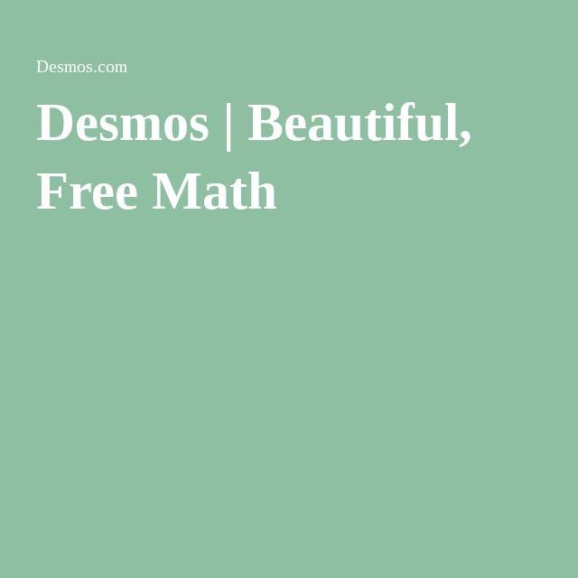 Desmos   Beautiful, Free Math   Precalculus   Pinterest   Free math ...