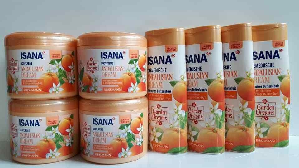 Isana Bodycremedusche Andalusian Dream 4x 500ml Isana