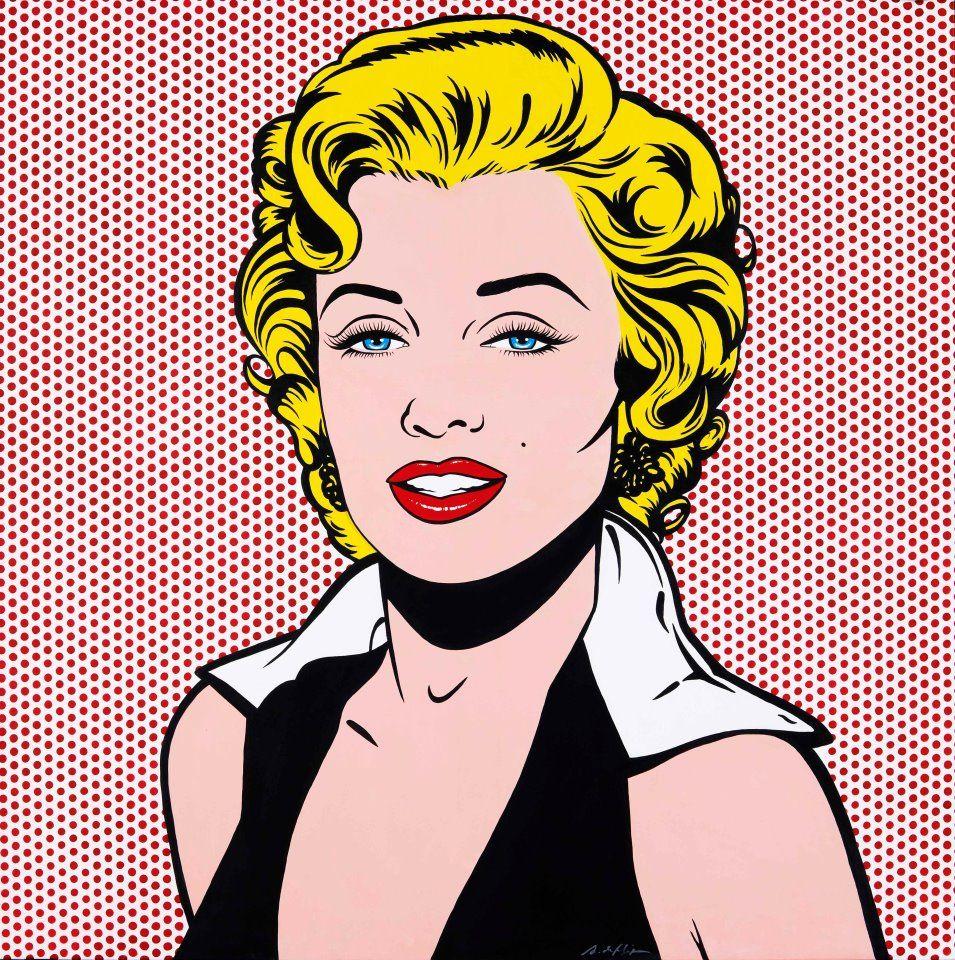 marilyn puntos rojos by antonio de felipe marilyn monroe pop art pop art pinterest. Black Bedroom Furniture Sets. Home Design Ideas