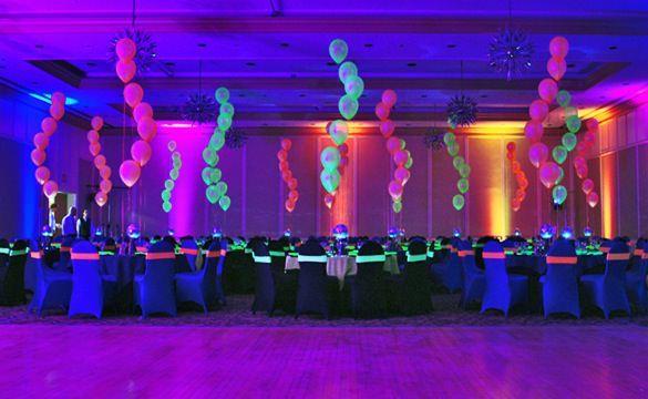 Black Light Party Ideas Casino Vegas Theme Tropical
