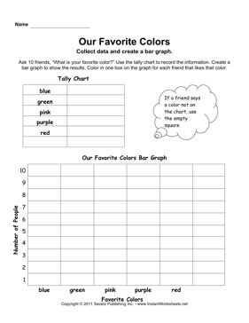 Favorite Color Bar Graph  EducationMath    Bar Graphs