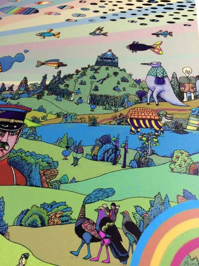 Pepperland With Images Yellow Submarine Art Psychedelic Art