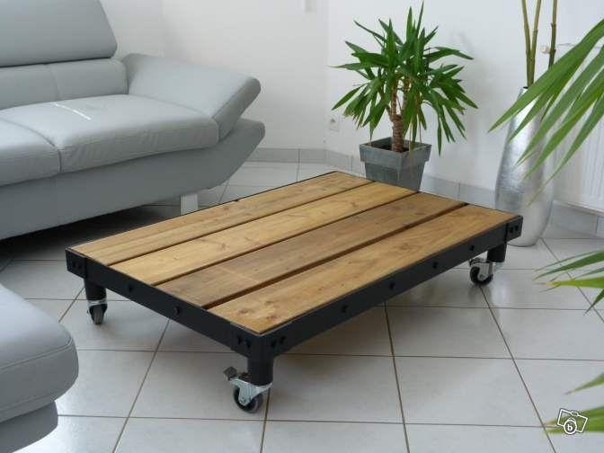 table basse- meuble industriel ameublement finistère - leboncoin