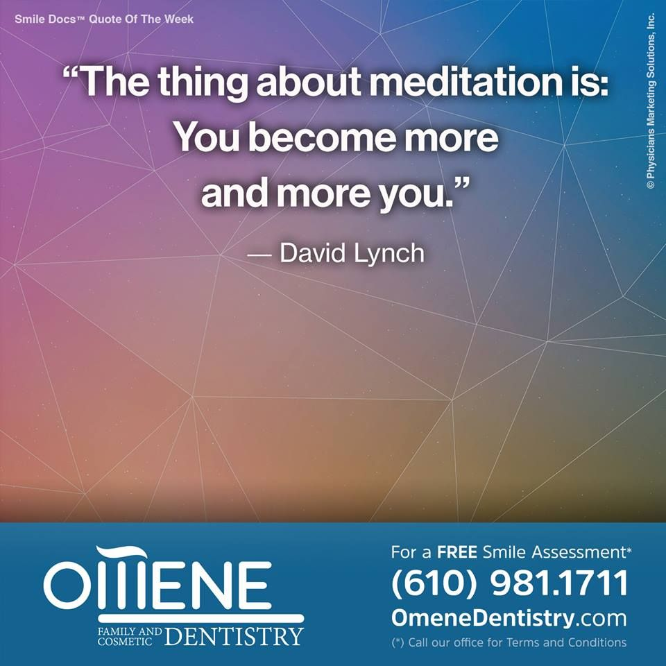 The thing about meditation is you become more and more you