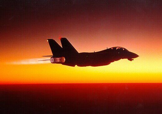 F14 Full Afterburner In The Evening AIRCRAFT FIGHTER AIRCRAFT