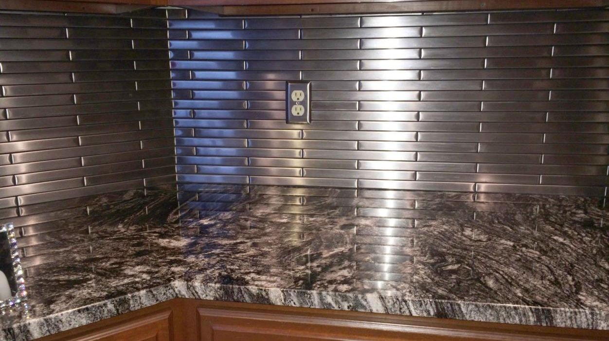 Stainless Steel Tile Backsplash | Modern Metal Tiles ...
