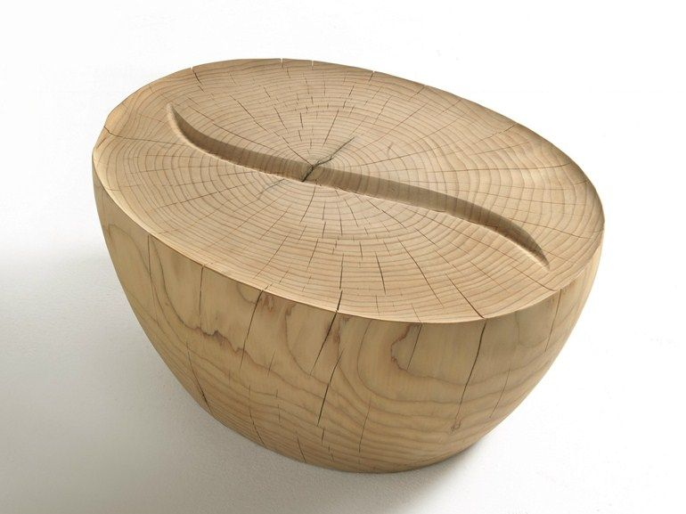 Tavolino ovale in legno massello KAVA COFFEE by Riva 1920   design Aleksandr Mukomelov
