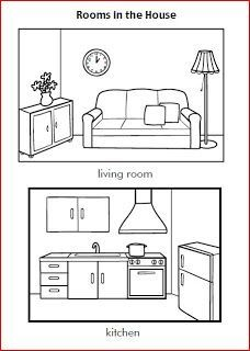 learning is fun house worksheets kids education teaching english worksheets learn english. Black Bedroom Furniture Sets. Home Design Ideas