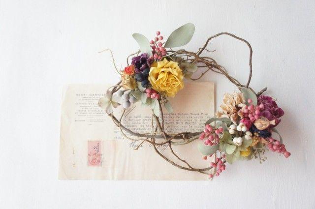 芍薬とバラの春のリース - *coco wreath*