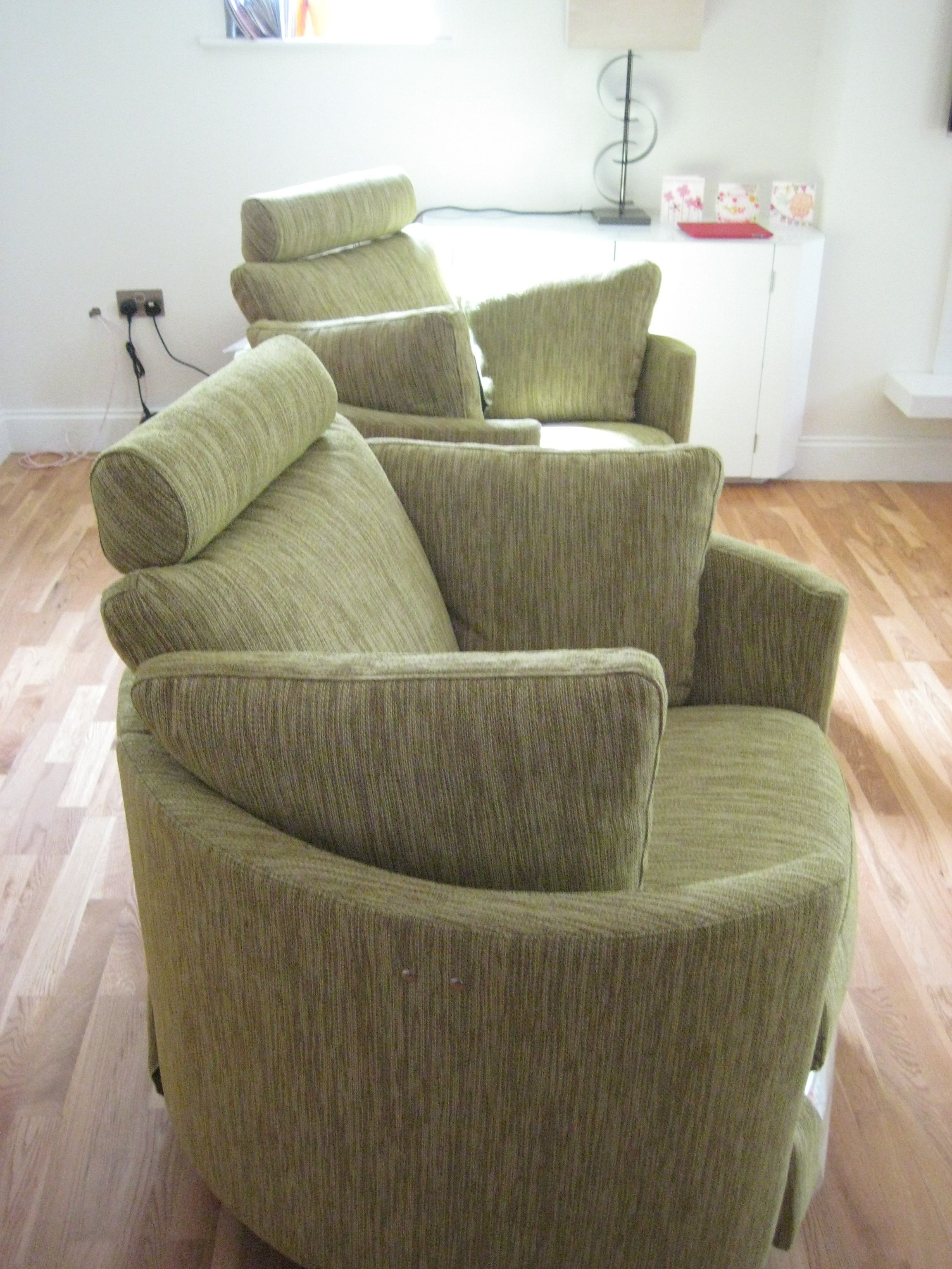 Recliner chair green - Twice As Much Fun These Two Contemporary Electric Recliner Chairs Are In J Brown Harley
