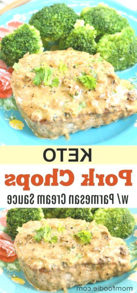 Keto Pork Chops with Parmesan Cream Sauce Recipe