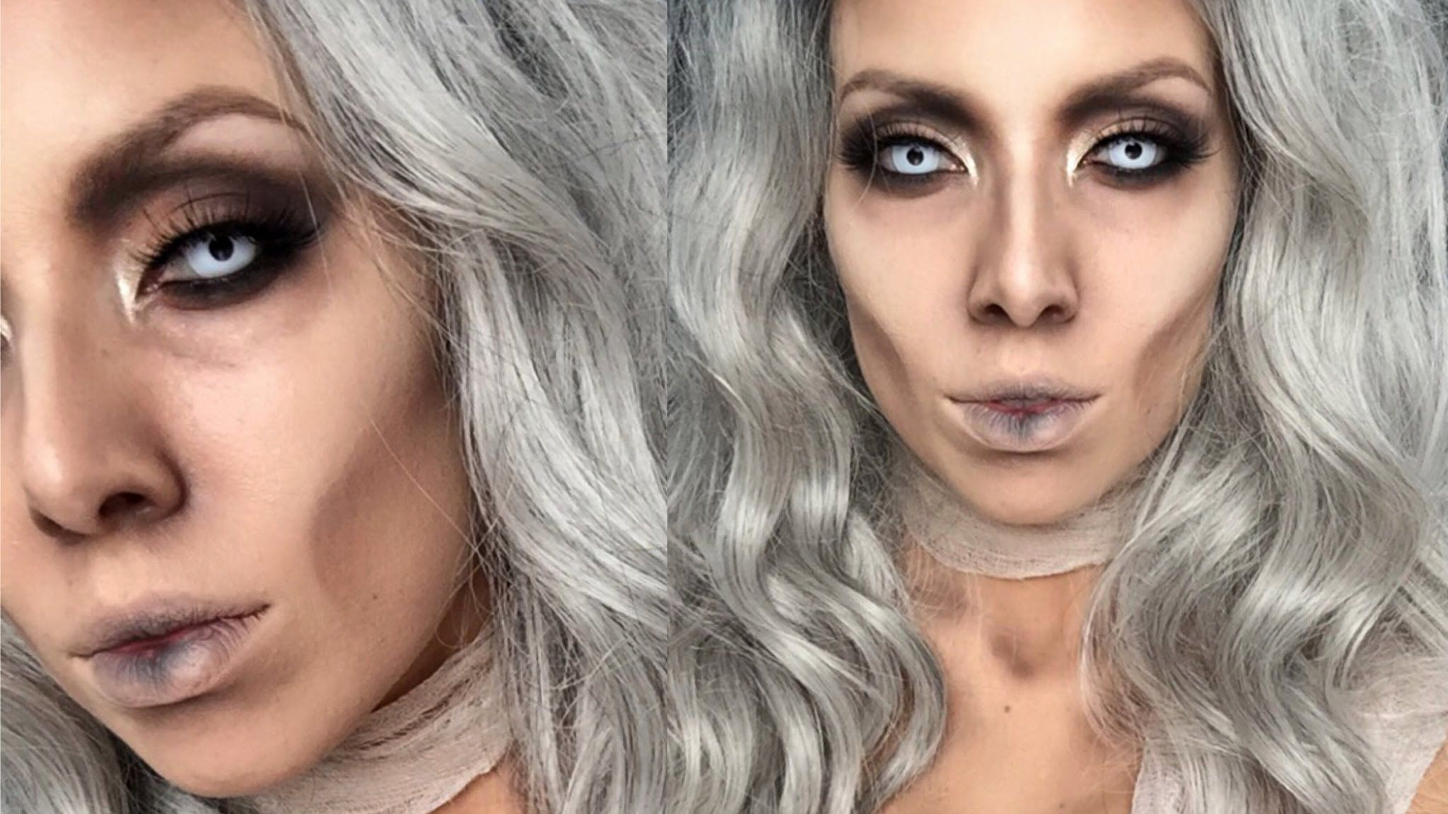 need a quick and easy halloween makeup ideas? this diy glam