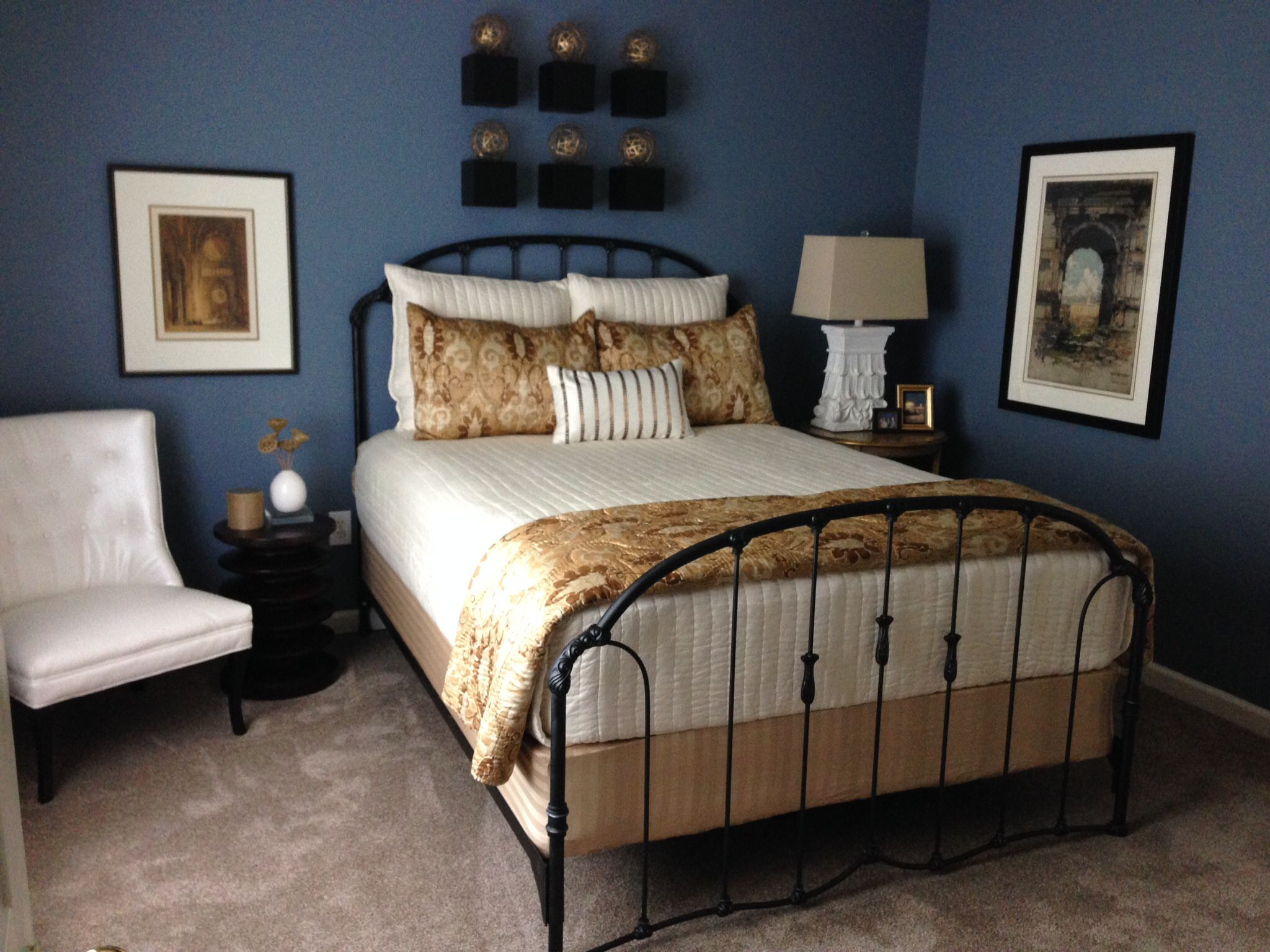 Wall paint color benjamin moore 39 s normandy made this - Best bedroom paint colors benjamin moore ...