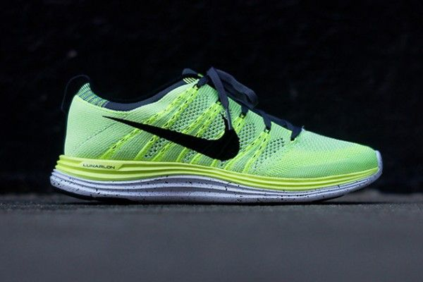 4ea1637f681a0 Nike Flyknit Lunar 1+ Running Shoe in Volt Black as seen on Kourtney  Kardashian