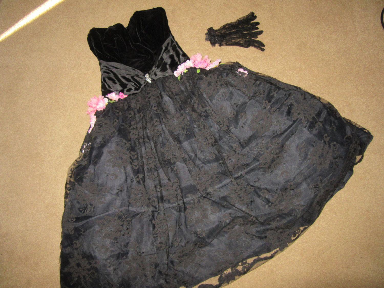 Us flapper dress halloween gatsby costume black lace