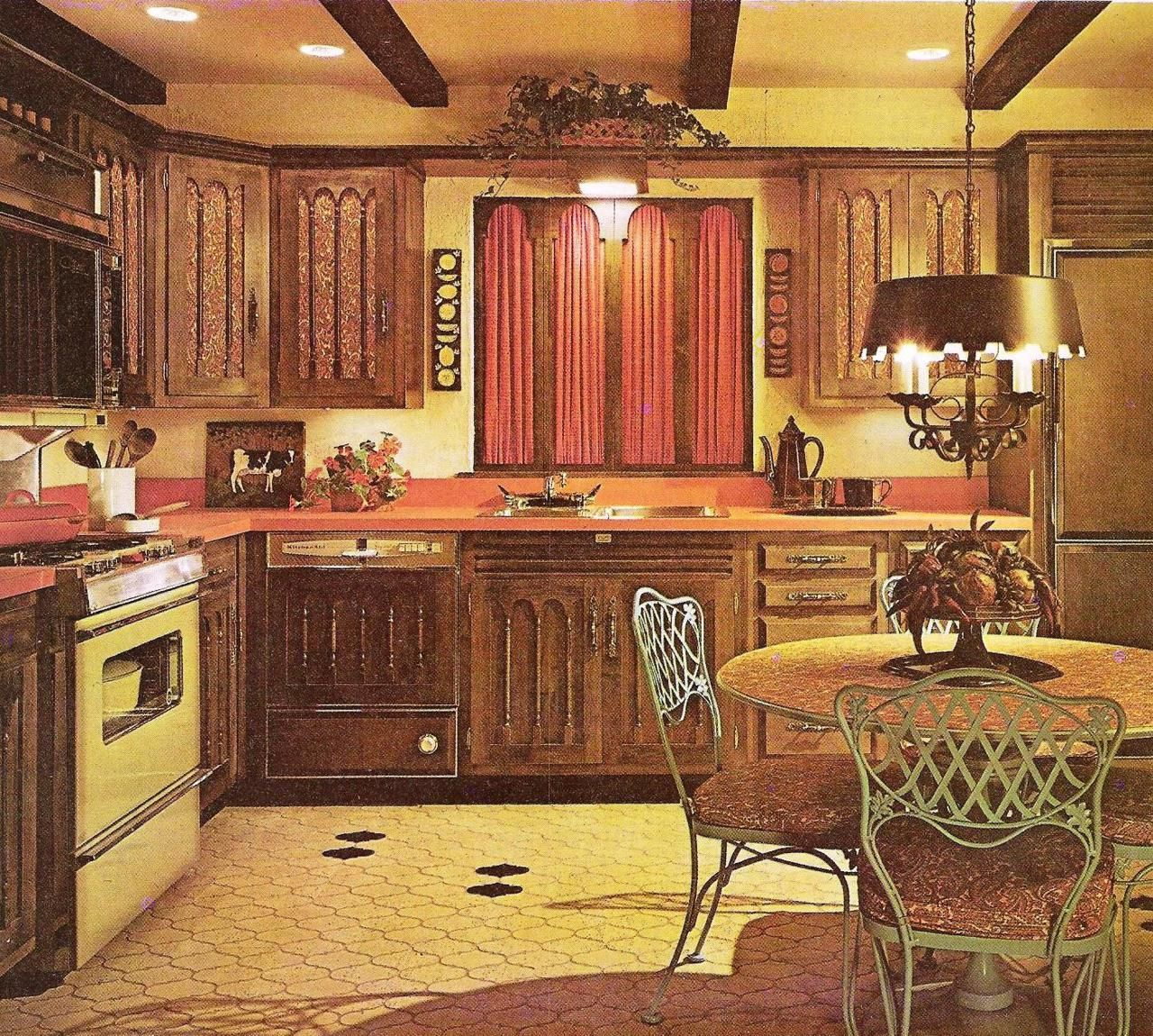 Retro Style Kitchen Mediterranean Style Kitchen 1972 Midcentury And Vintage