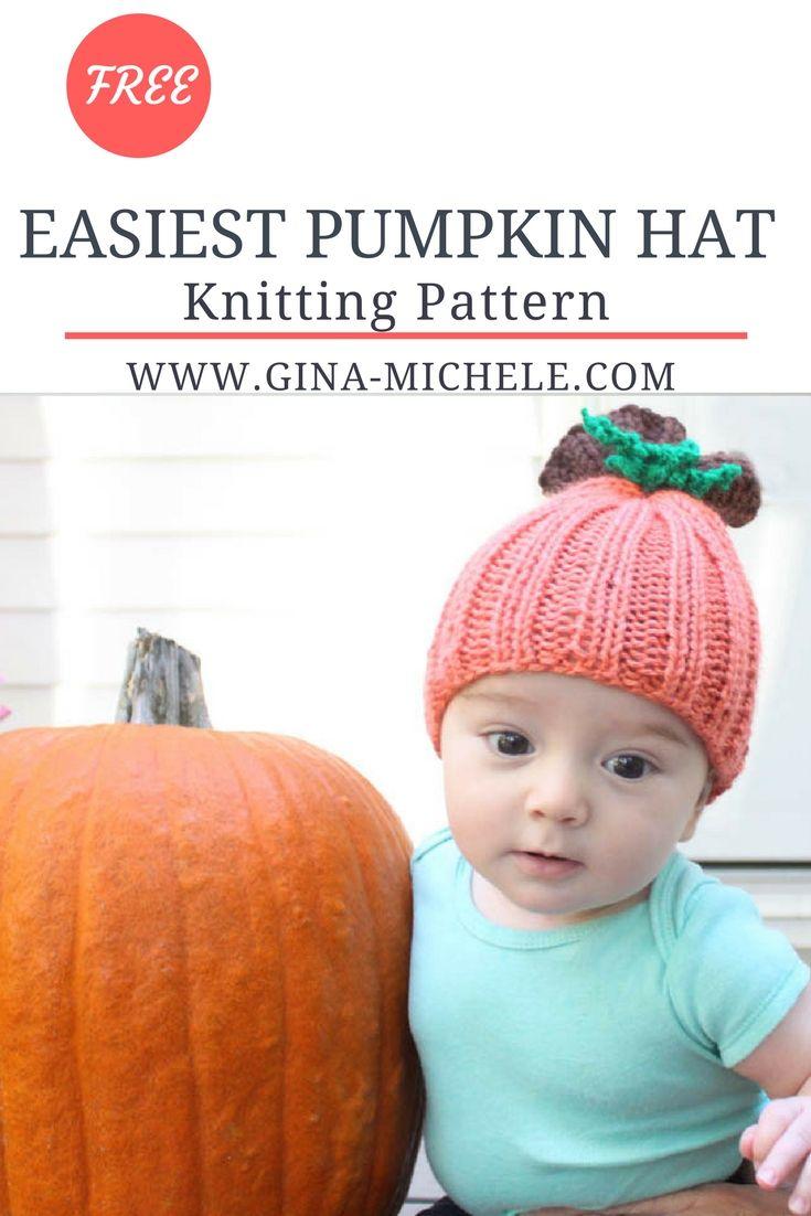 Baby Pumpkin Hat [knitting pattern | Pinterest | Bebé