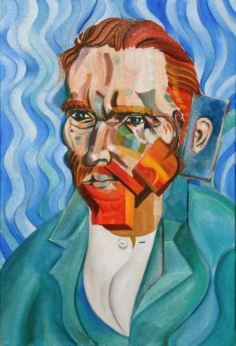 Van Gogh By Picasso Portrait Of Van Gogh By Artist Greg Norman