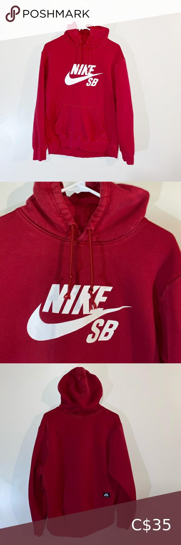 Nike Sb Hoodie Red Hoodies Red Hoodie Vintage Hoodies [ 1740 x 580 Pixel ]