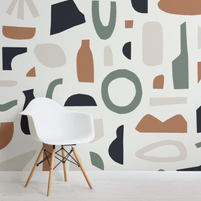Matisse Inspired Wallpaper Abstract Shapes Muralswallpaper Mural Wallpaper Mural Wall Murals Painted