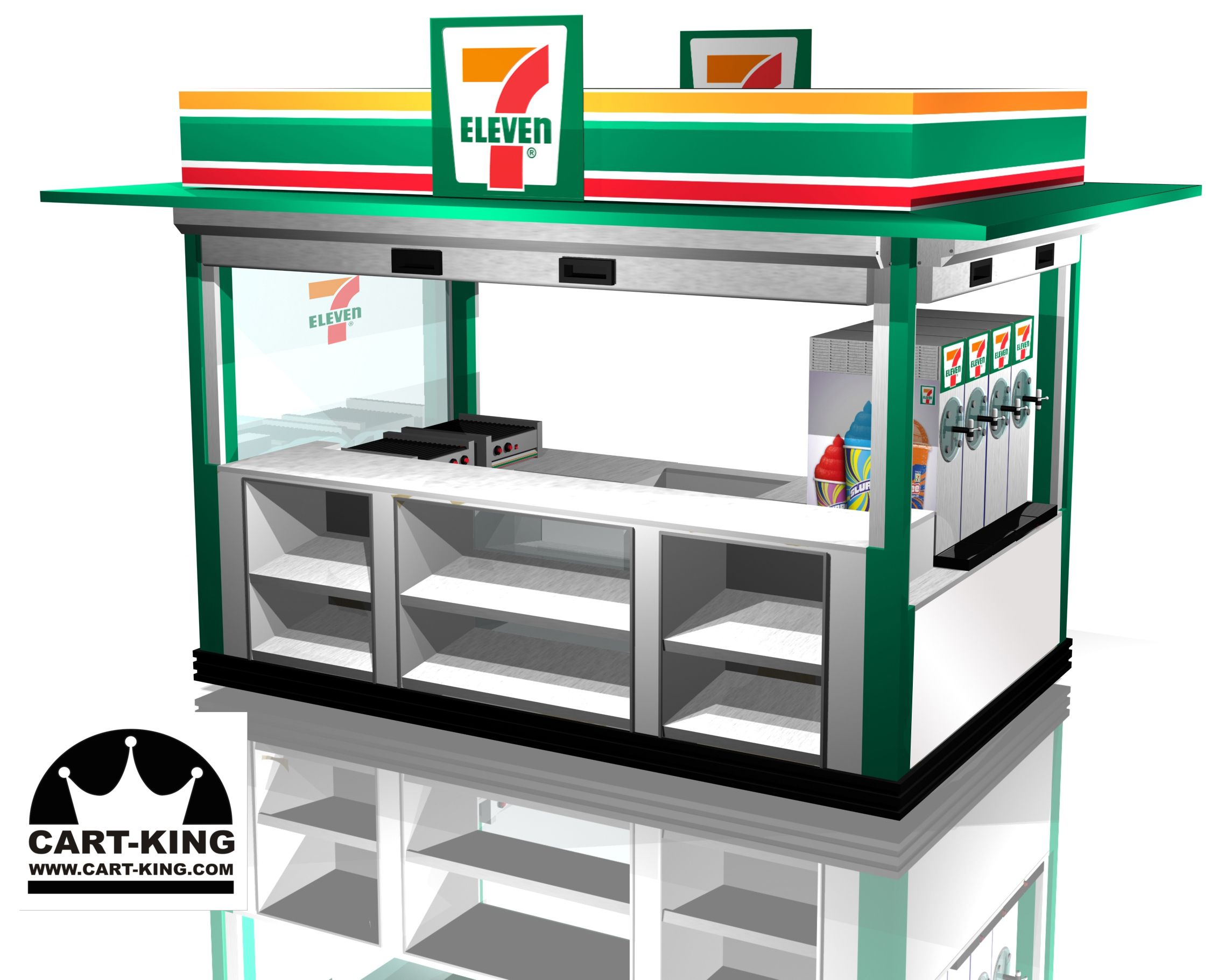 7 11 design for outdoor kiosk concept new cart and kiosk for Mobili kios