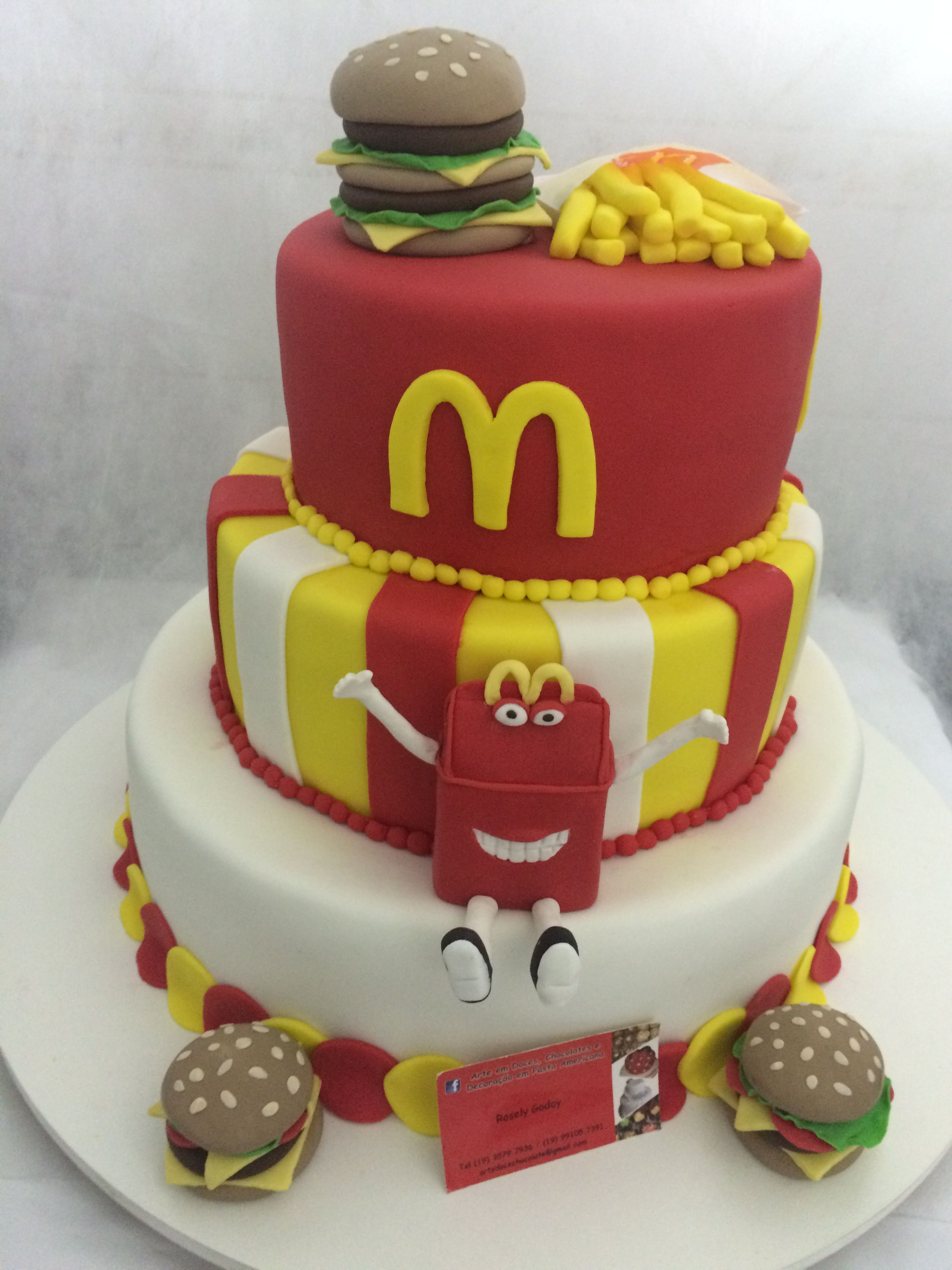 Fantastic Mc Donald Cake Mc Donald Cake Birthday Cake For Husband Boys Birthday Cards Printable Nowaargucafe Filternl