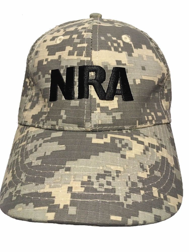 NRA Digital Camo Hat Adjustable Army Camouflage  NRA  BaseballCap e8ebdfc2aa3