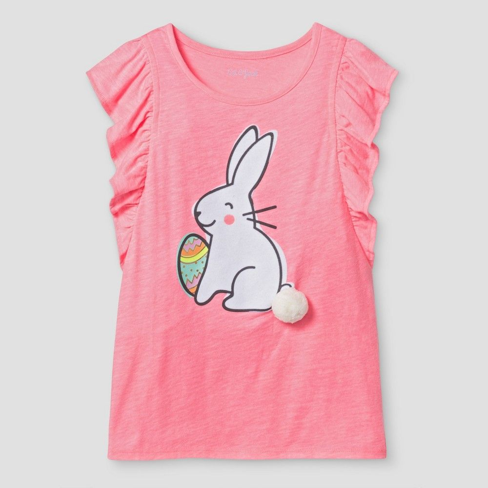 be94fd942 Girls' Easter Bunny Graphic Tee Cat & Jack - Pink XS, Girl's | Products