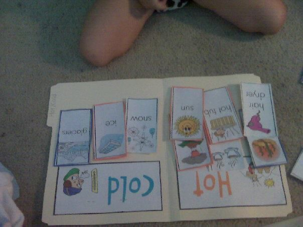 """Hot or cold - idea to build on for an """"opposites"""" lapbook"""