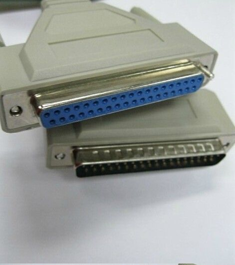 1 4m db37 37pin male to female m/f serial port extend data cable cord  printer
