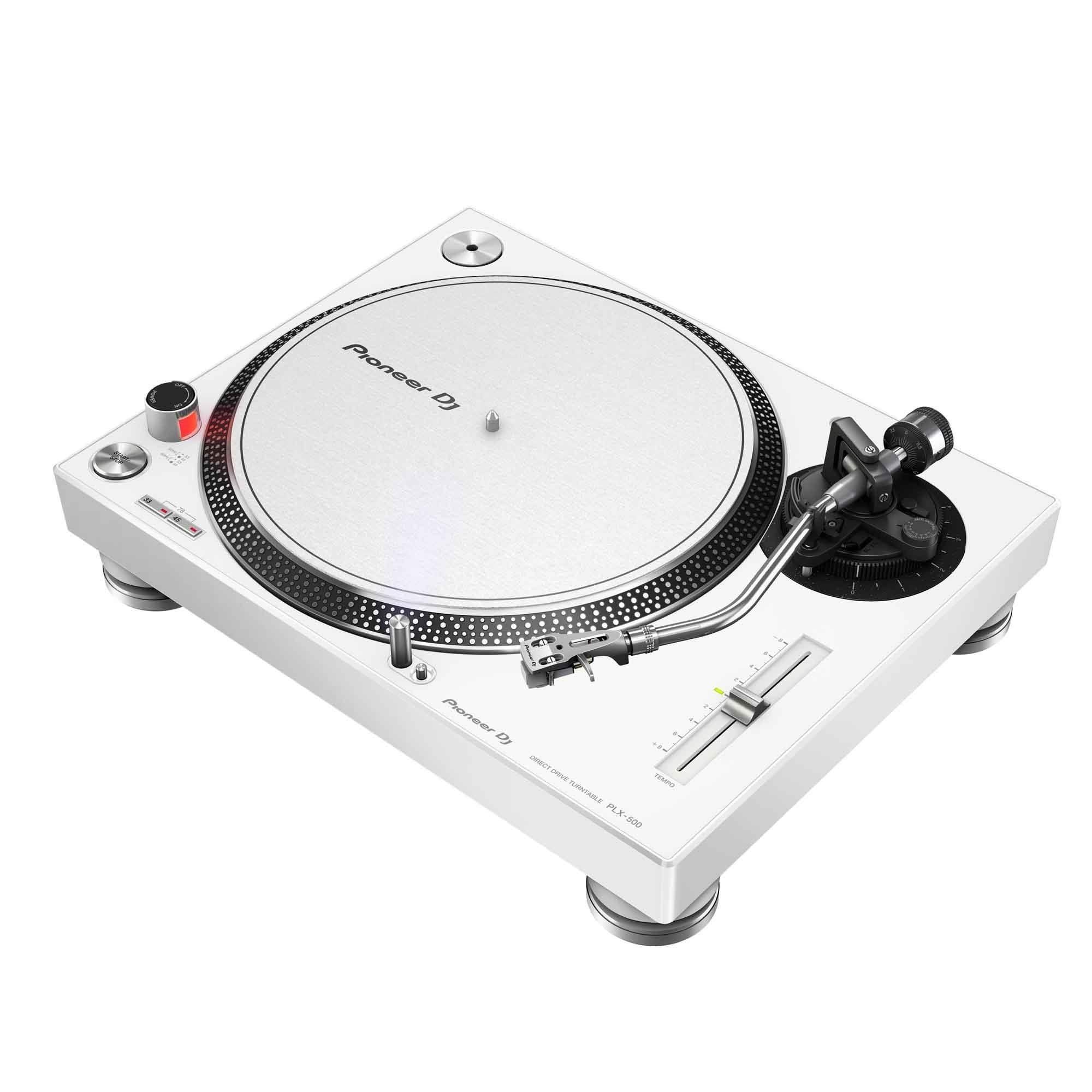 Pioneer PLX-500-W Direct Drive USB Turntable - White