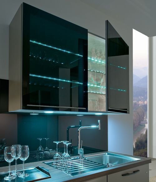 Kitchen Remodel Under 10000: Make A Feature Out Of Your Glassware And Crockery With LED