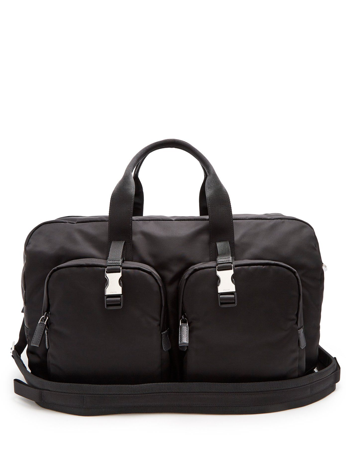 361f86138eca Prada Double pocket nylon holdall | Bags | Bags, Prada, Pocket