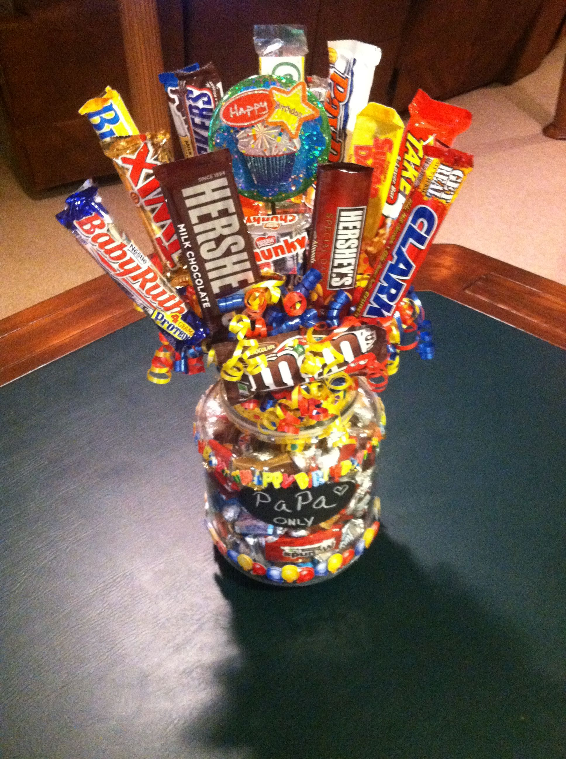 Birthday Candy Bouquet Birthday candy, Birthday candy