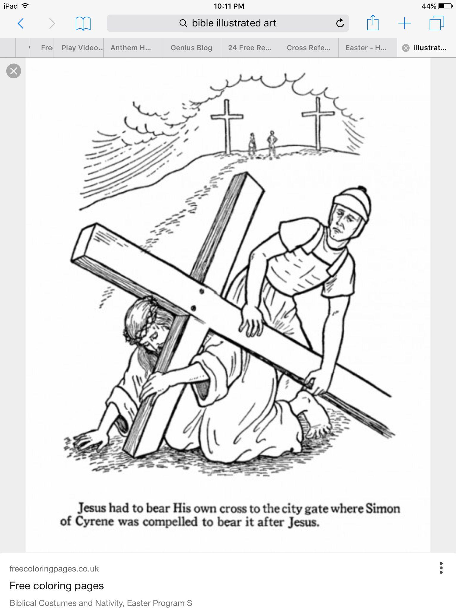 Jesus Carrying Cross Bible Art Journeling Pinterest Easter