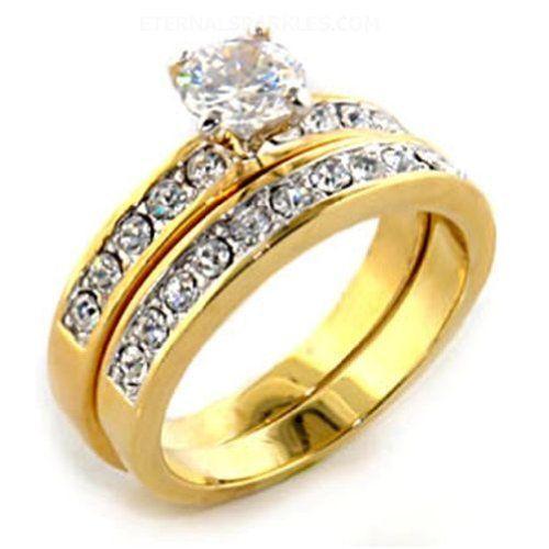 Womens Gorgeous 14 Ct Round Cut CZ Wedding Set Eternal Sparkles 2499 And Engagement RingsWedding