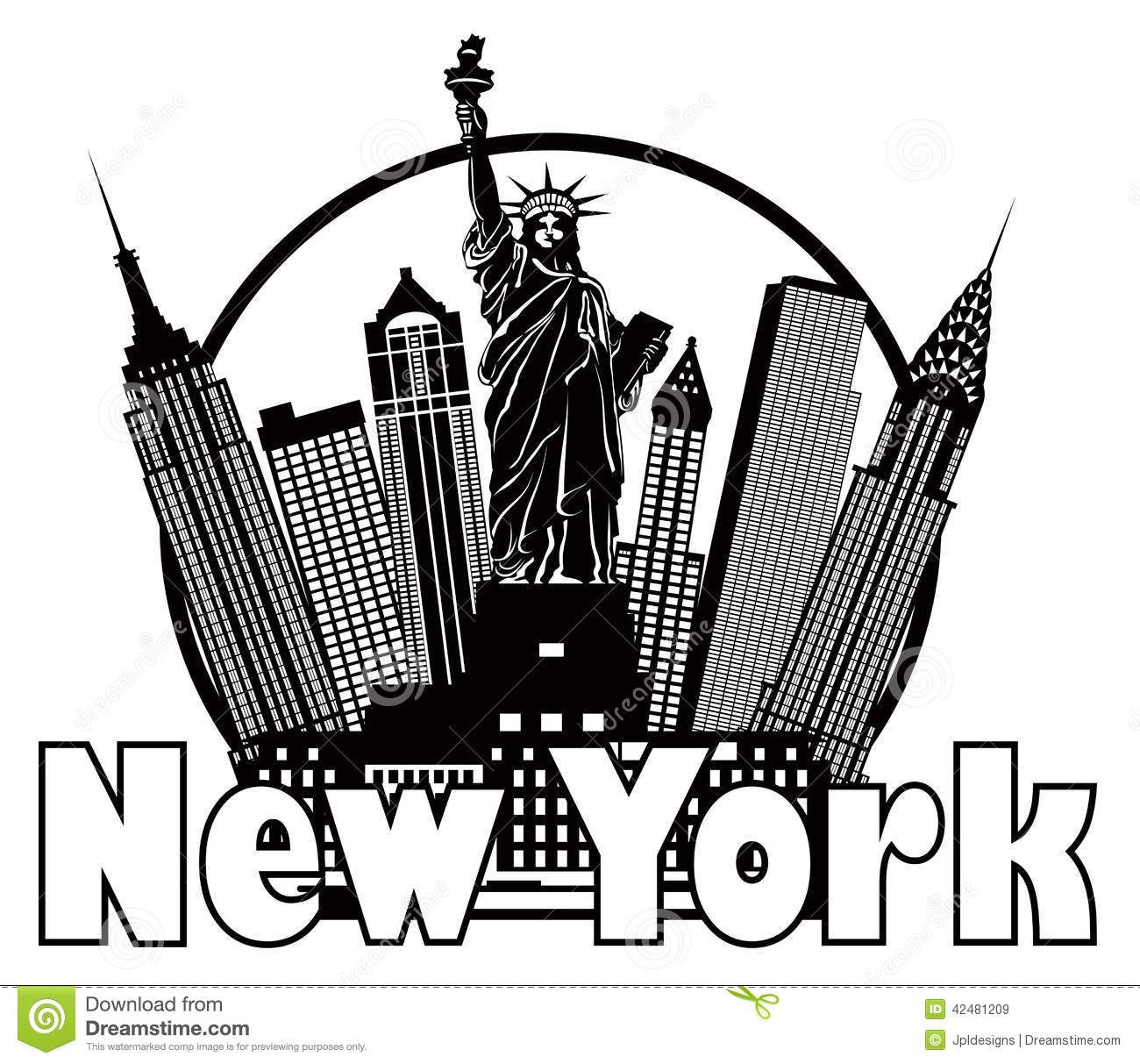 new york city clipart skyline - photo #43