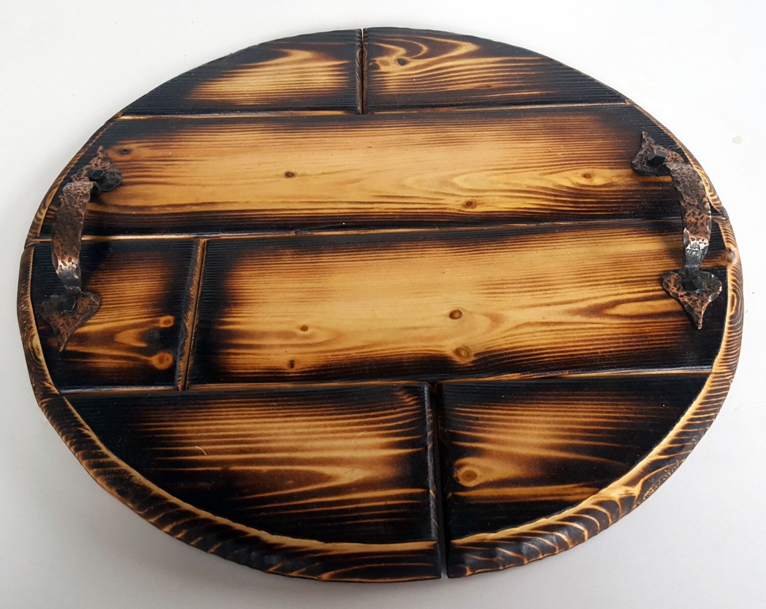 Ottoman Trays Home Decor Fair Wood Burned Ottoman Tray Round Wooden Tray Coffee Table Tray For Inspiration