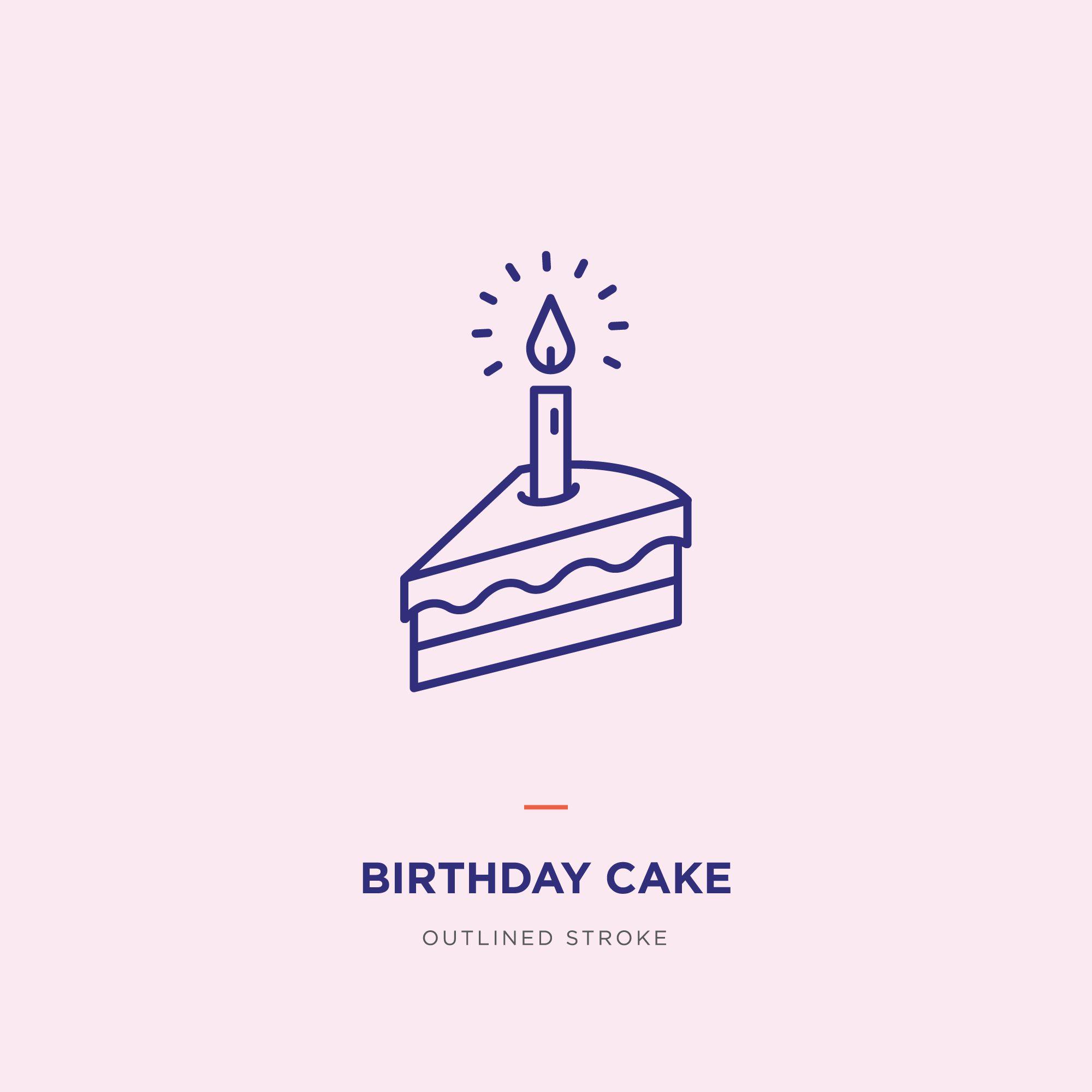 Strange Birthday Cake Line Icon Design Funny Birthday Cards Online Kookostrdamsfinfo