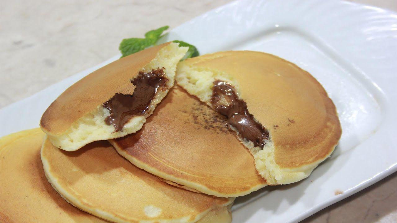 شاهدوا معي طريقة تحضير بان كيك ب حشوة النوتيلا How To Make Nutella Pancakes Youtube Food And Drink Food Nutella