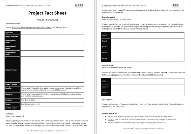 Fact Sheet Template Microsoft Word In 2021 Fact Sheet Microsoft Word Document Card Template