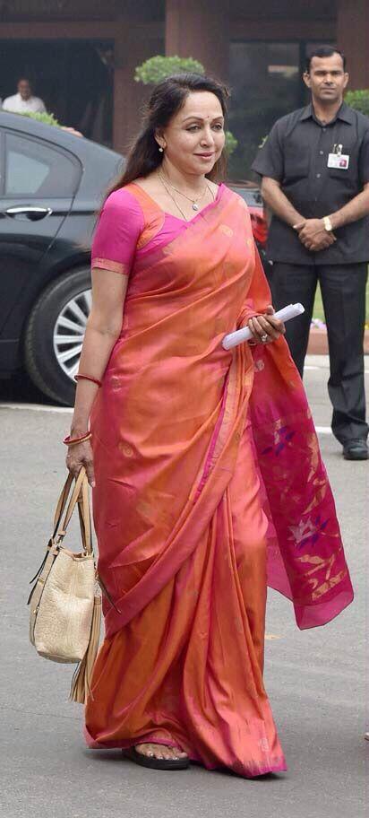 b8b6494d3c6 Hema Malini. Hema Malini Saree Dress ...