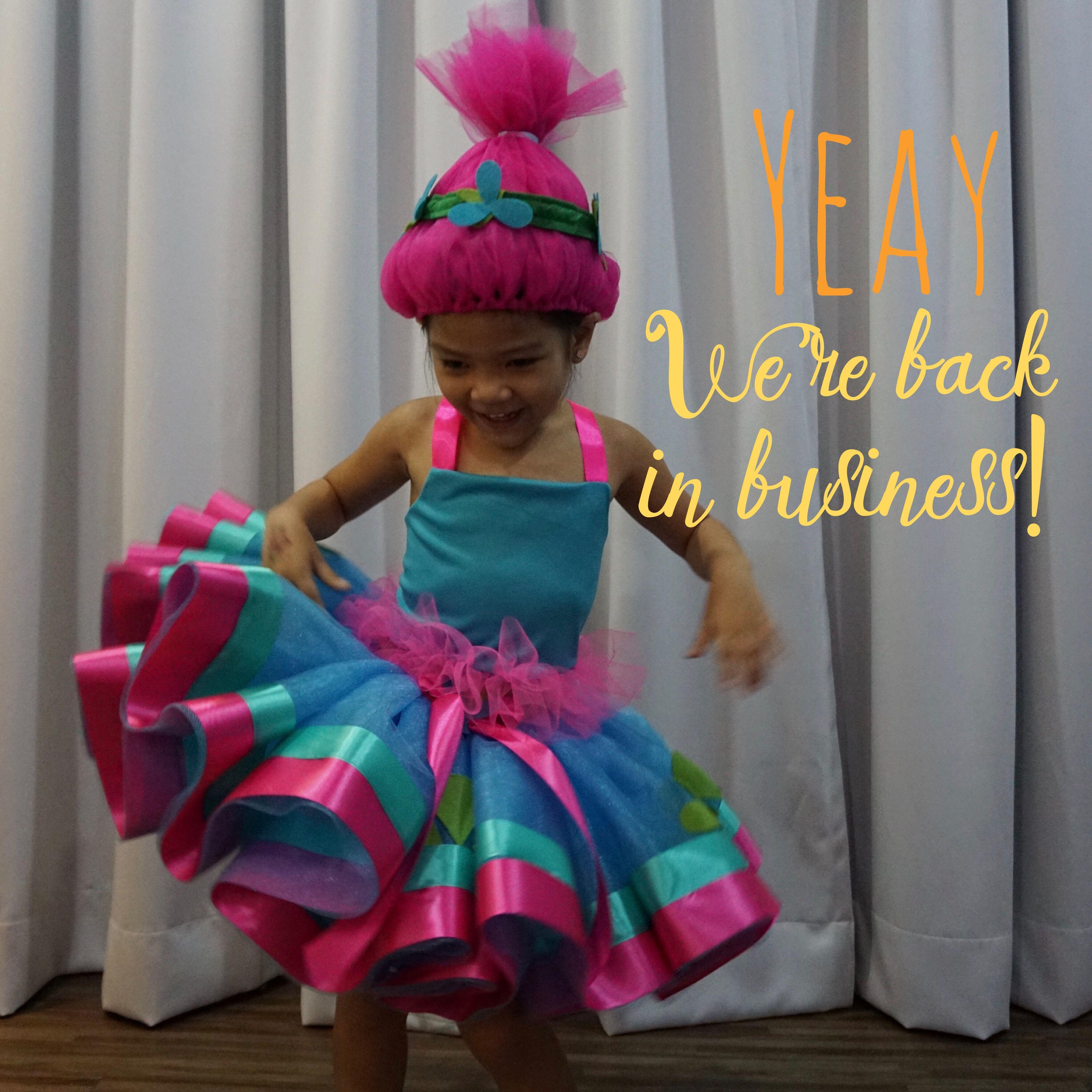 Poppy Trolls Costume, Tutu Outfit By Sabbytia Birthday