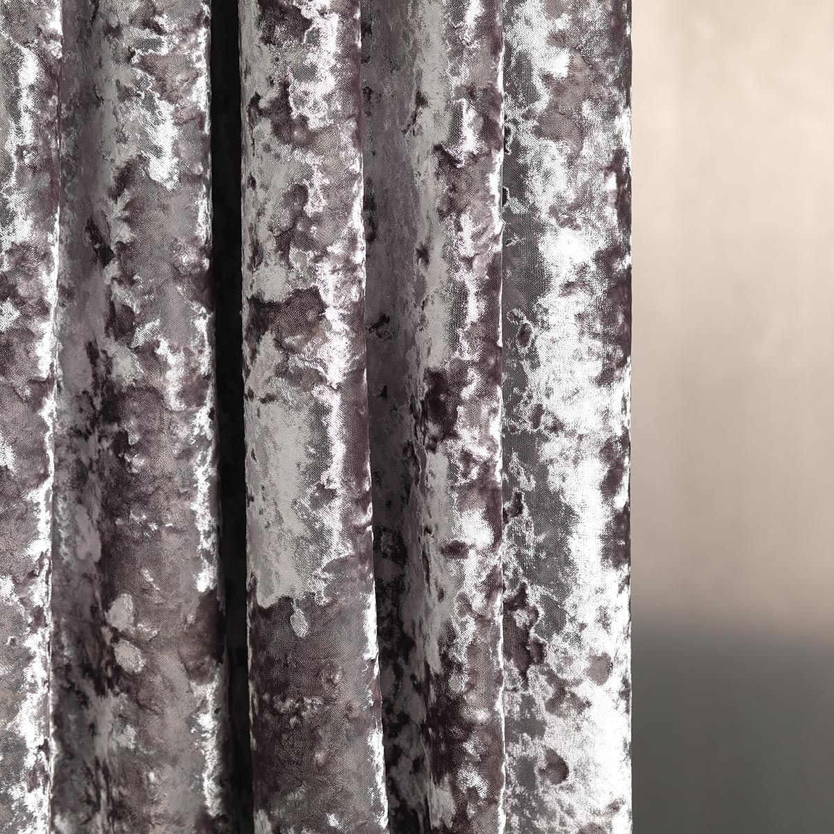 Silver Grey Velvet Curtain Fabric By Fibre Naturelle