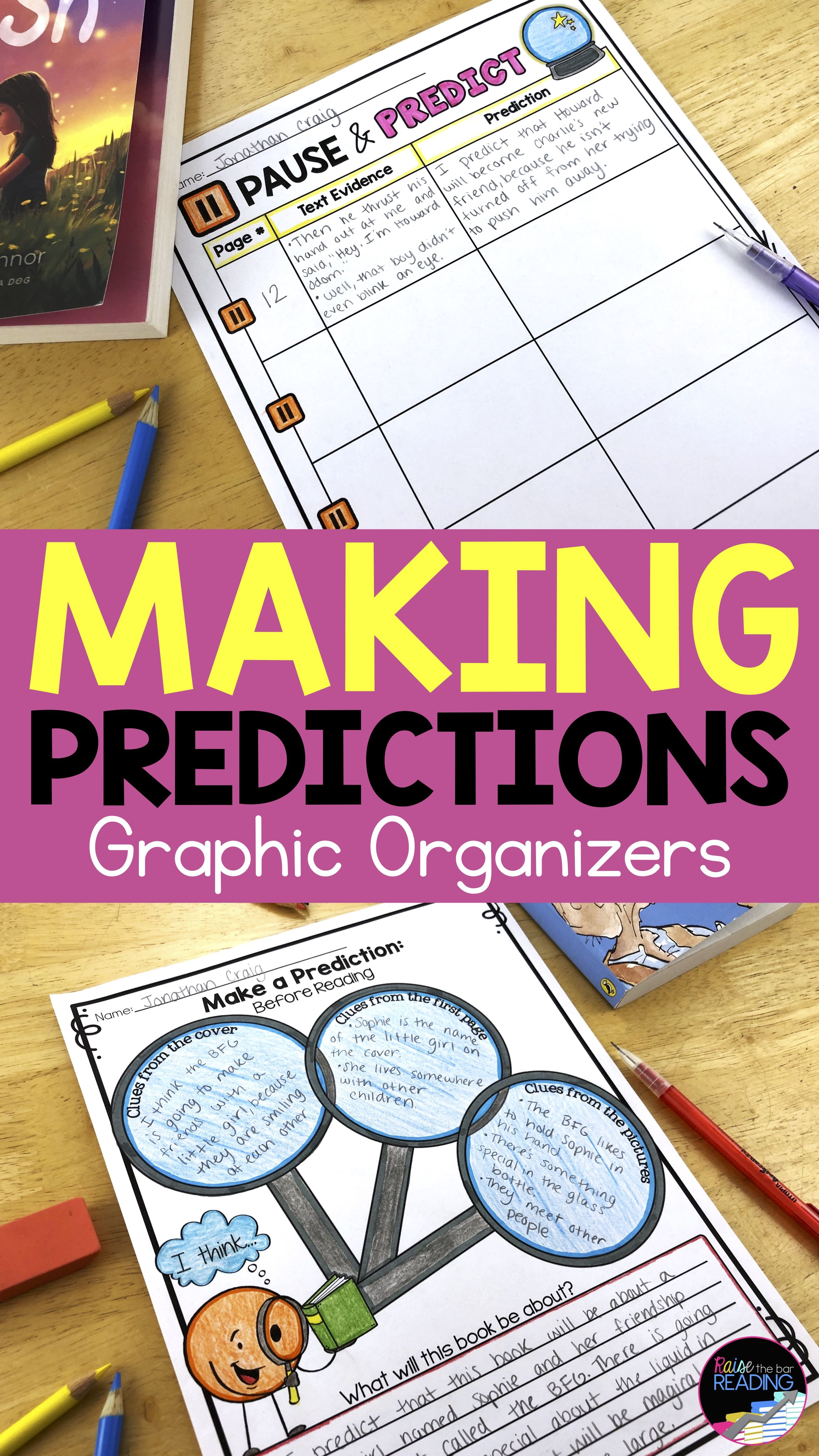 Making Predictions Graphic Organizer Poster Amp Making