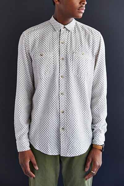 Salt Valley Dobby Button-Down Shirt - Urban Outfitters - XS