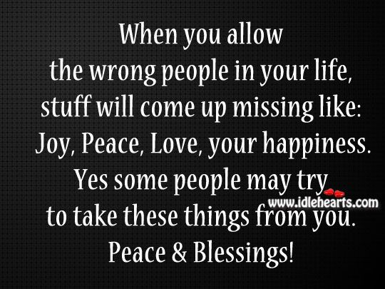 Peace Relationship Quotes | Stuff Will Missing Like Joy.