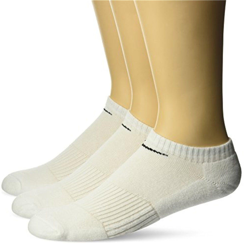 NIKE Unisex Performance Cushion NoShow Training Socks (3