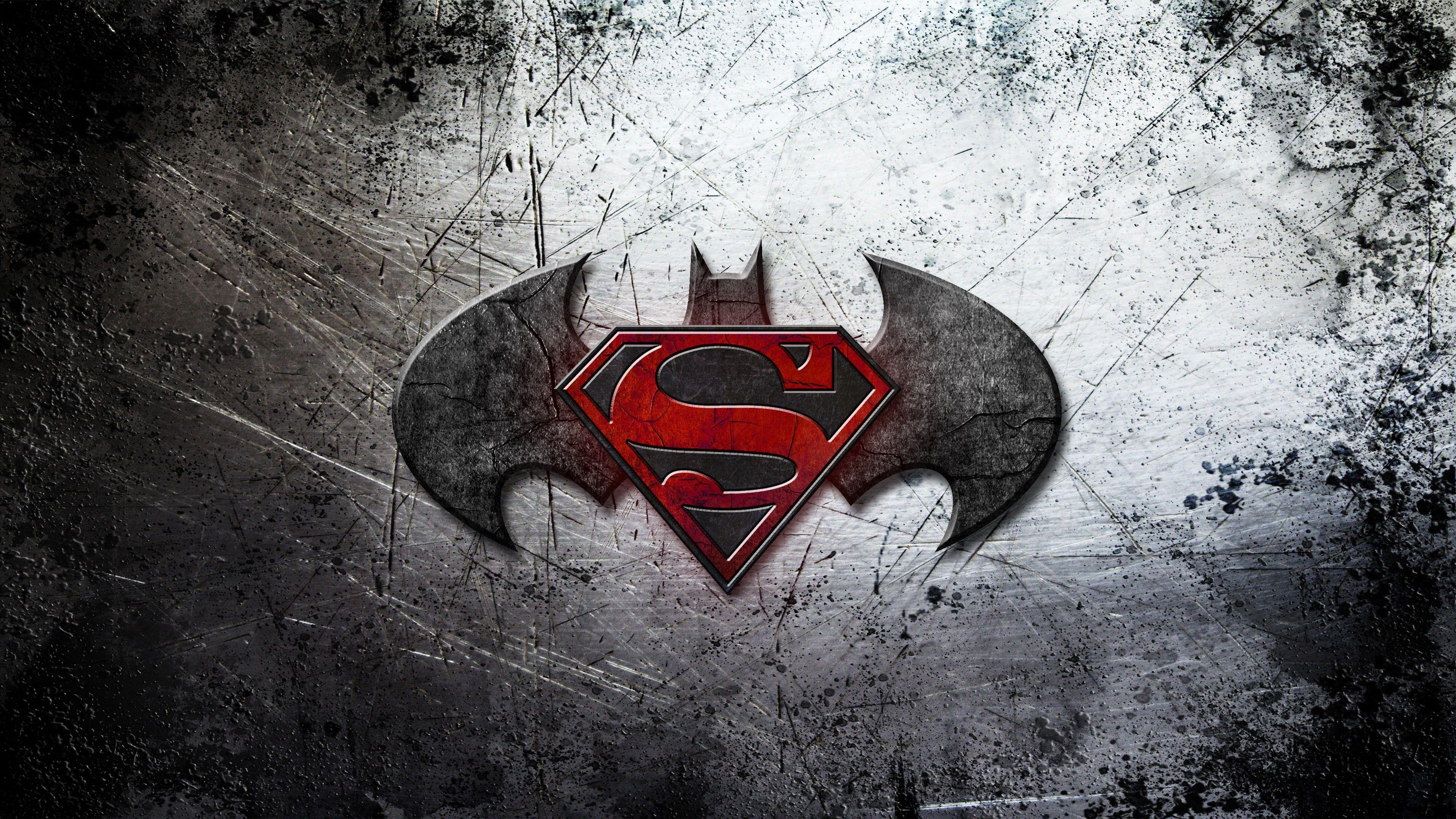 Batman And Superman Logo Digital Wallpaper Movies Batman V Superman Dawn Of Justice 4k Wallpaper Superman Hd Wallpaper Superman Wallpaper Batman Wallpaper